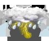 tormenta ligera con rayos